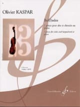 Ballades Olivier Kaspar Partition Alto - laflutedepan.com