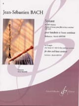 BACH - Sonata in E flat major - Oboe - Sheet Music - di-arezzo.com