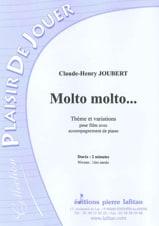 Molto, Molto - Claude-Henry Joubert - Partition - laflutedepan.com
