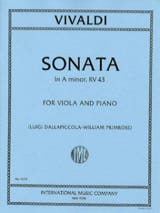 Sonate in A minor RV 43 – Viola - Antonio Vivaldi - laflutedepan.com