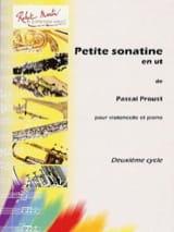 Petite Sonatine en Ut Pascal Proust Partition laflutedepan.com