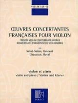 Oeuvres concertantes françaises pour le violon - laflutedepan.com