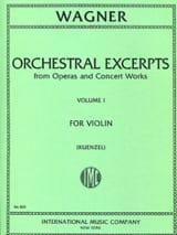 Orchestral excerpts Volume 1 – Violin Richard Wagner laflutedepan.com