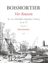 4 Konzerte op. 38 - 2 Altblockflöten BOISMORTIER laflutedepan