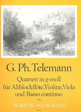 Quartett g-moll – Altblockflöte Violine Viola Bc - laflutedepan.com