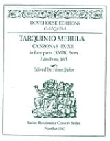 Canzonas 9-12 in four parts SATB Tarquinio Merula laflutedepan.com