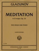 Alexandre Glazounov - Meditation In D Maj.Op.32 - Sheet Music - di-arezzo.co.uk