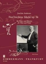 5 Leichtere Stücke op. 56 Joachim Andersen Partition laflutedepan.com