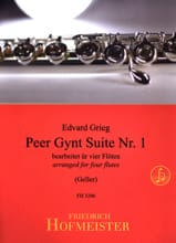 Edvard Grieg - Peer Gynt Suite Nr. 1 - 4 Flöten - Partition - di-arezzo.fr