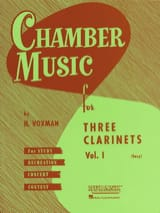 Chamber Music clarinets trios vol 1 (easy) - laflutedepan.com