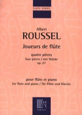 Joueurs de Flûte Albert Roussel Partition laflutedepan.com