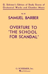 Samuel Barber - Opening of The School for Scandal Op 5 - Sheet Music - di-arezzo.co.uk