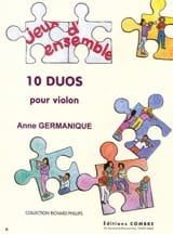 10 Duos pour Violons Anne Germanique Partition laflutedepan.com
