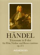 Sonate en Trio en Fa Majeur Opus 2 N° 4 HAENDEL laflutedepan.com