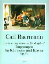 Carl Baermann - Impromptu op. 34 - Klarinette Klavier - Partition - di-arezzo.fr
