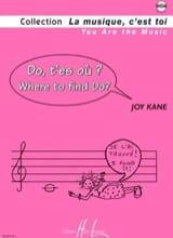 Do t'es où ? Joy Kane Partition Eveil musical - laflutedepan.com
