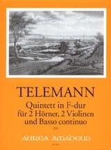 Quintett F-Dur TWV 44:7 -2 Hörner Violinen BC laflutedepan.com