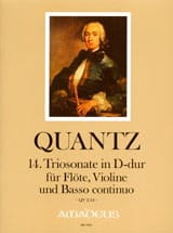 Triosonate Nr. 14 D-Dur QV 2:14 -Flöte Violine Bc laflutedepan.com