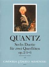 Johann Joachim Quantz - 6 Duette op. 2, Nr. 4-6 -2 Flöten - Partition - di-arezzo.fr