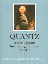Johann Joachim Quantz - 6 Duette op. 2, Nr. 1-3 - 2 Flöten - Partition - di-arezzo.fr