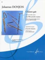 Chanson gaie Johannes Donjon Partition laflutedepan.com