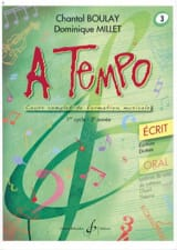 Chantal BOULAY et Dominique MILLET - A Tempo Volume 3 - Ecrit - Sheet Music - di-arezzo.co.uk
