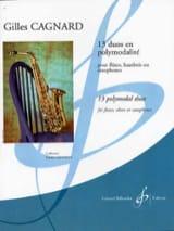 13 Duos en Polymodalité Gilles Cagnard Partition laflutedepan.com