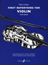 First Repertoire for Violon Mary Cohen Partition laflutedepan.com