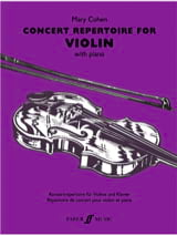 Concert Repertoire for Violon Mary Cohen Partition laflutedepan.com
