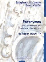 Paronymes Roger Boutry Partition Trios - laflutedepan.com