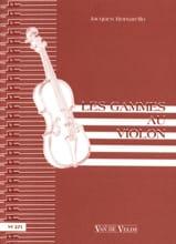 Les Gammes au violon Jacques Borsarello Partition laflutedepan.com