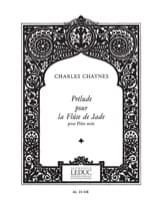 Prélude pour la Flûte de Jade Charles Chaynes laflutedepan.com