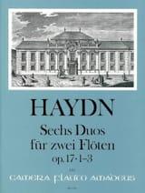 6 Duos op. 17 - Bd. 1 Nr. 1-3 - 2 Flöten HAYDN Partition laflutedepan