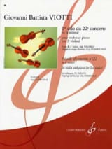 Giovanni Battista Viotti - 1st Solo of the Concerto n ° 22 - Sheet Music - di-arezzo.com