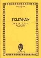 TELEMANN - Tafelmusik - Partition - di-arezzo.fr