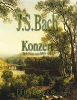 BACH - Konzert für 4 Flöten nach BWV 1041 - Partition - di-arezzo.fr