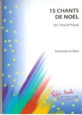 15 Chants de Noël Pascal Proust Partition laflutedepan