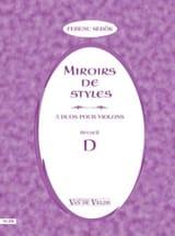 Ferenc Sebok - Miroirs De Style - Recueil D - Partition - di-arezzo.fr