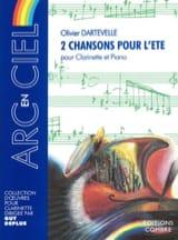 2 Chansons pour l'Eté Olivier Dartevelle Partition laflutedepan.com