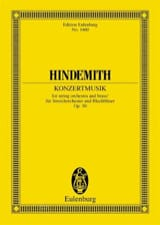 Paul Hindemith - Konzertmusik, opus 50 - Partition - di-arezzo.fr