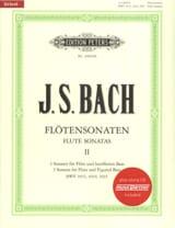Flötensonaten Volume 2 BACH Partition laflutedepan.com