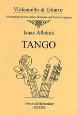 Tango - violoncelle et guitare ALBENIZ Partition 0 - laflutedepan