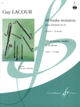 Guy Lacour - 60 Recreational Studies - Volume 1 - Sheet Music - di-arezzo.co.uk