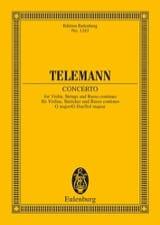 TELEMANN - Violin-Konzert G-Dur G-Dur - Partition - di-arezzo.fr