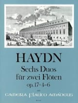Joseph Haydn - 6 Duos Op. 17 Volume 2 - 2 Flûtes - Partition - di-arezzo.fr