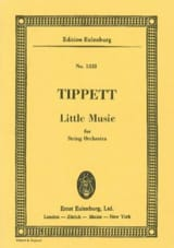 Little Music Michael Tippett Partition Petit format - laflutedepan.com