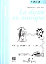 Pierre CHEPELOV et Benoit MENUT - The Dictation in Music - Answer Key - Volume 1 - Sheet Music - di-arezzo.com