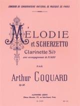 Arthur Coquard - Melodie et Scherzetto op. 68 - Partition - di-arezzo.fr