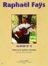 Raphaël Faÿs - Album N°6 - Valses - Partition - di-arezzo.fr
