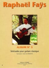 Raphaël Faÿs - Album N°5 - Sérénades - Partition - di-arezzo.fr